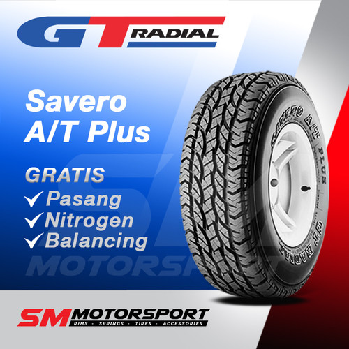 Foto Produk Ban Mobil GT Radial Savero A/T Plus 255/60 R18 18 dari YopieSMmotor