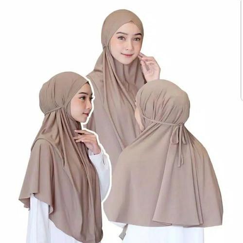 Foto Produk Jilbab Bergo Hijab Instan Kerudung Syari Jersey Tali Non Pet Jumbo - Milo dari MtizFactory