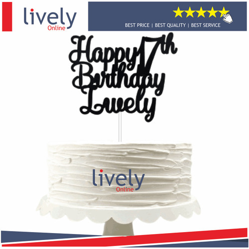 Foto Produk CUSTOM NAMA CAKE TOPPER HIASAN KUE ULANG TAHUN HAPPY BIRTHDAY - satu baris, Gold dari Lively Online Store