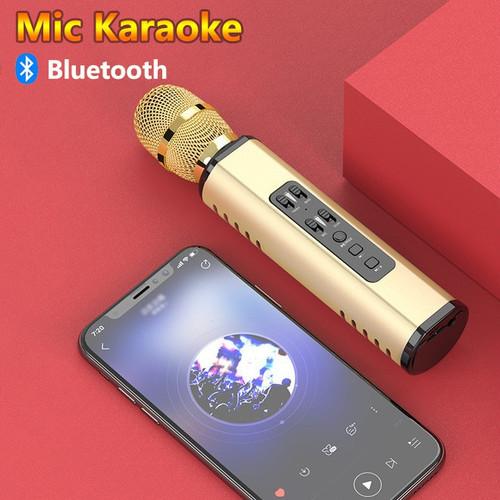 Foto Produk Mic K6 Wireless Bluetooth Karaoke Player Microphone Bass Treble Ori - Hitam dari BUDITRONIK