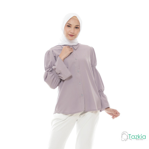 Foto Produk Atasan Wanita Muslim | Lamia Top Abu | S M L XL | Tazkia Hijab Store - M dari Tazkia Hijab Store