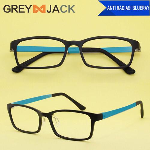 Foto Produk Grey Jack kacamata anti radiasi blueray HP TV Bahan lembut 1310 - C2 Blk Blue dari Grey Jack