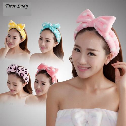 Foto Produk handuk bando wash headband ikat rambut cuci muka hair band korea style dari serba grosir murah