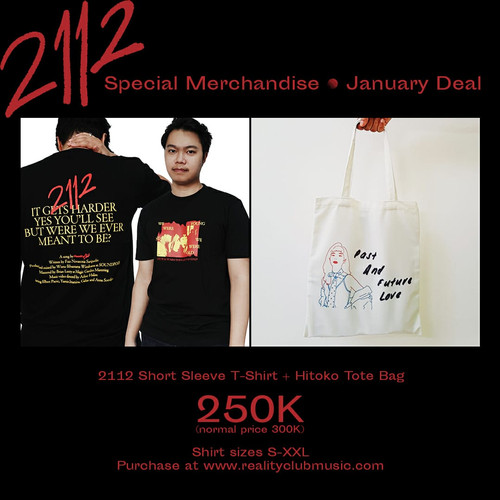 Foto Produk Reality Club - 2112 Short Sleeve + Hitoko's Tote Bag (JANUARY DEAL)!! dari Reality Club Official