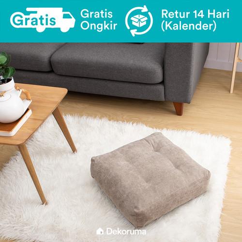 Foto Produk Dekoruma Kumi Square Floor Cushion | Bantal Lantai - Cokelat dari Dekoruma Official Store