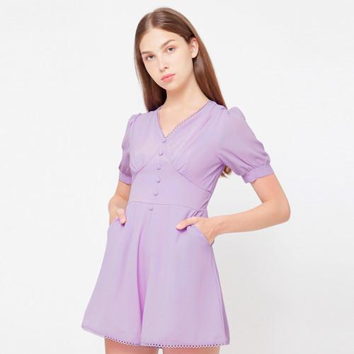 Foto Produk Chocochips - Yuella Romper Lavender - Ungu, M dari Chocochips Official Shop