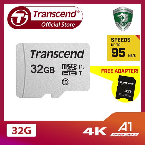 Foto Produk Transcend microSD 300S-A with SD Card Adapter - 32GB dari Transcend Indonesia