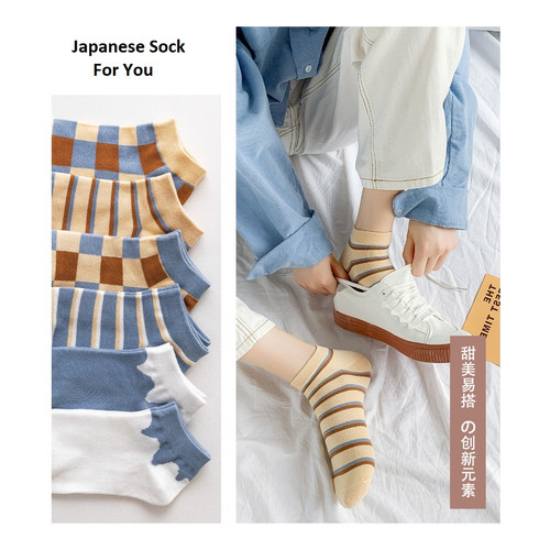 Foto Produk KK55 Kaos Kaki Pendek Wanita Japanese Unique Fashion Women Sock dari EnnWen Online Store