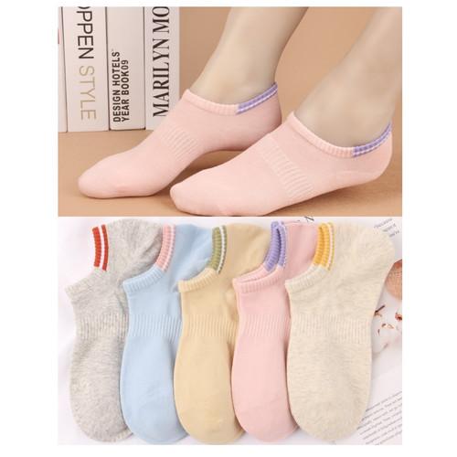 Foto Produk KK53 Kaos Kaki Pendek Wanita Korea Soft Color Cotton Women Sock Warna dari EnnWen Online Store