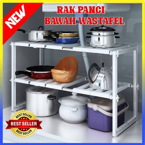 Foto Produk Rak Panci Bawah Wastafel Kitchen Rak Dapur Tempat Bumbu-100318 dari Dailyhomeshop