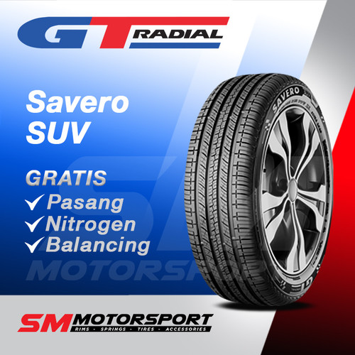 Foto Produk Ban Mobil GT Radial Savero SUV 215/55 R17 17 dari YopieSMmotor