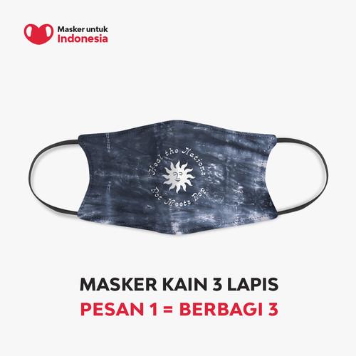 Foto Produk Masker Kain 3 Lapis (3 Ply) Pot Meets Pop x Masker untuk Indonesia dari Masker untuk Indonesia