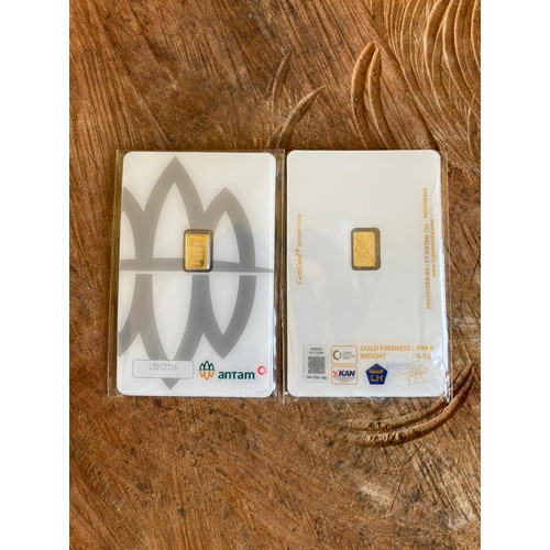 Foto Produk Emas Logam Mulia Antam Bukan UBS 0.5gram 0.5 gram Press Certieye dari FashInsBrand