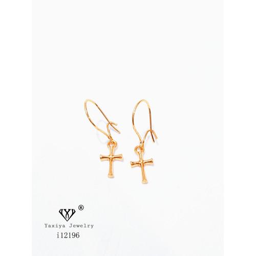 Foto Produk Anting Wanita Model Salib Perhiasan Lapis Emas yaxiya jewelry 619 - model 1 dari YAXIYA JEWELRY