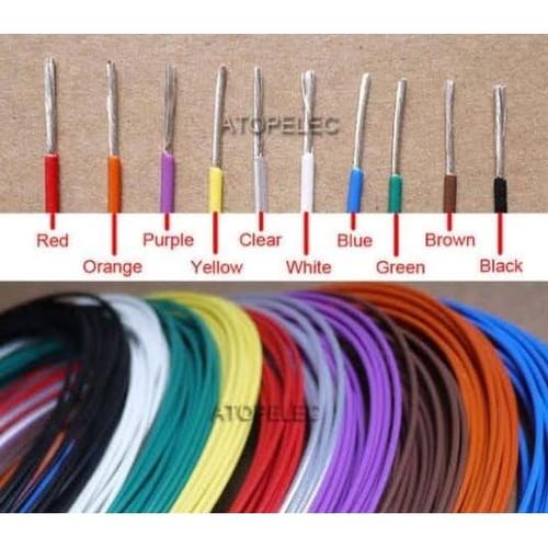 Foto Produk Kabel AWG 26 Serabut Putih harga per meter - Merah dari Gubuk Led