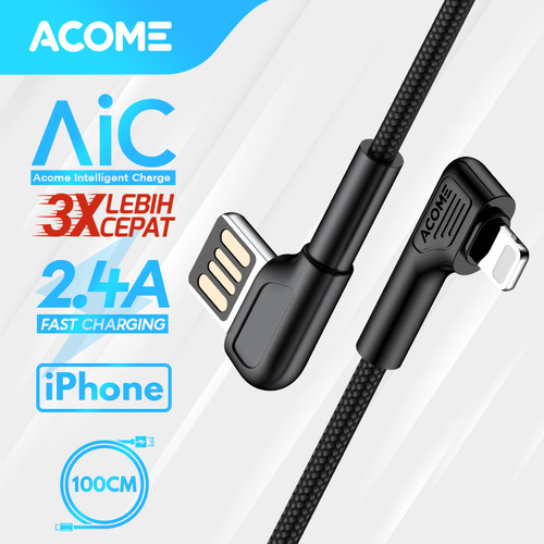 Foto Produk ACOME Gaming Cable Data iPhone Fast Charging Kabel Data Lightning 2.4A - iPhone dari Acome Indonesia