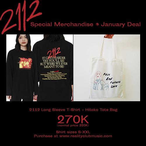 Foto Produk Reality Club - 2112 Long Sleeve + Hitoko's Tote Bag (JANUARY DEAL)!! dari Reality Club Official