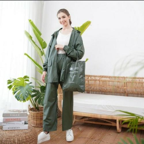 Foto Produk Jas hujan Mantel pria wanita setelan kumbang high quality hijau xl/xxl dari BBTronik
