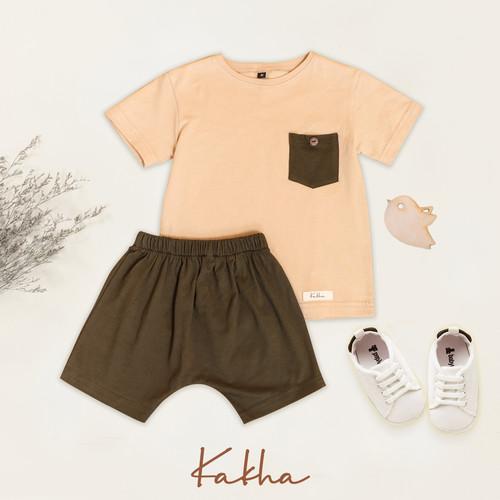 Foto Produk Set Main Kakha Series (Setelan Anak - Bayi) - Cream, XL dari kakhaofficial