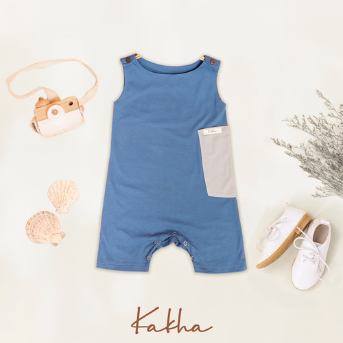 Foto Produk Romper Main Kakha Series (Jumper Bayi - Anak) - Blue, L dari kakhaofficial