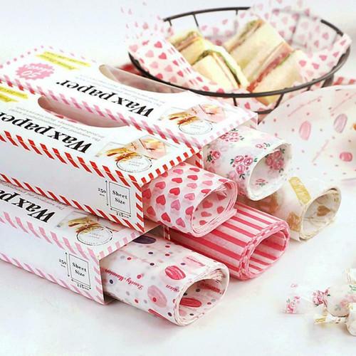 Foto Produk Wax paper / baking paper motif / kertas roti - macaron dari Shopnitz