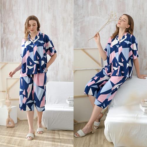 Foto Produk Kaia Set in Cotton Candy - Sleepwear / Piyama Baju Tidur Rayon by RAHA dari Raha Sleepwear