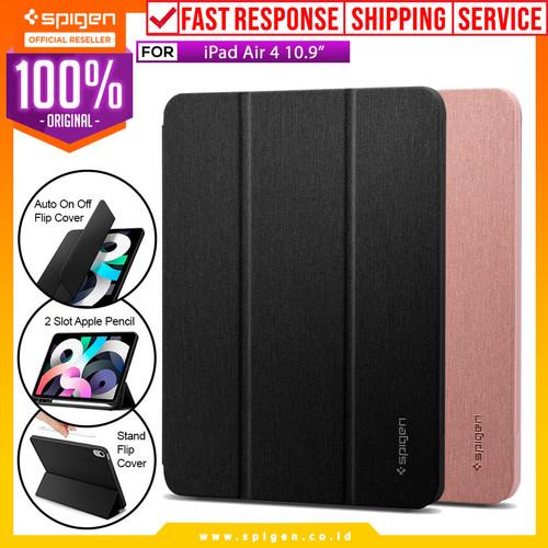 Foto Produk Case iPad Air 4 10.9 Spigen Urban Fit Anti Gores Flip Cover Casing - Black dari Spigen Official