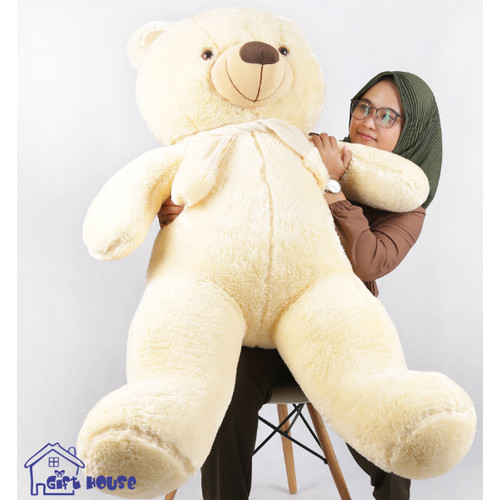 Foto Produk Boneka Teddy Bear Jumbo Pengrajin - kream dari Gift House bandung
