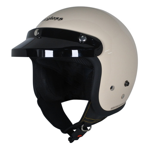 Foto Produk Helm Retro Cargloss CF Avorio Naiade - M dari Helm Cargloss