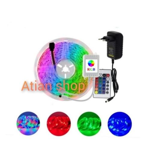 Foto Produk lampu LED strip RGB 5 meter + controller+ adaptor dari Atianshop