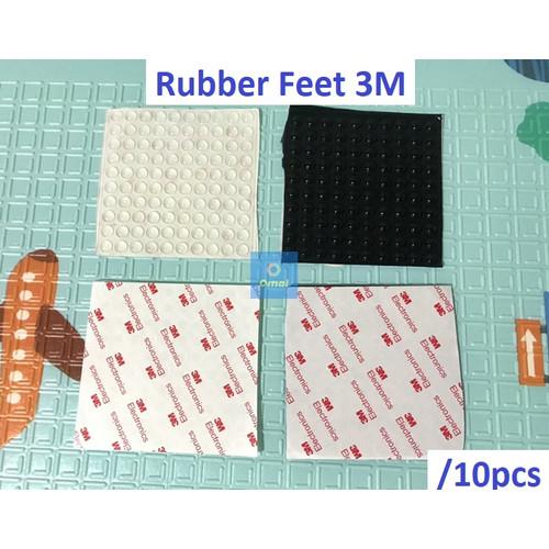 Foto Produk 10pcs Rubber Feet 3M Sticker Karet Kaki Alat Elektronik Laptop Bumper - Hitam dari Omal