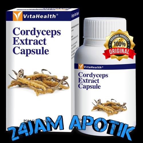 Foto Produk Cordyceps Extract Capsule 60'Vitahealth Cordyseps extract capsule dari 24JAM APOTIK
