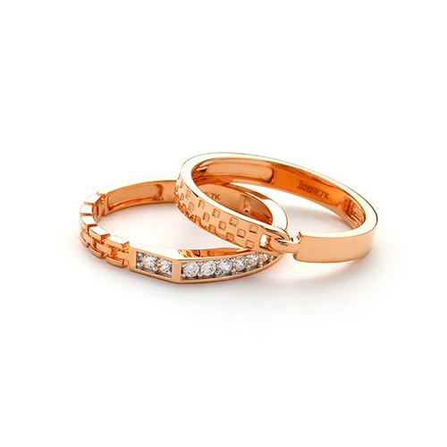 Foto Produk Juene Cincin Emas 7K - Zeline Rings 01 A | LJS CC 027 W - Rose Gold, 10 dari Juene Jewelry