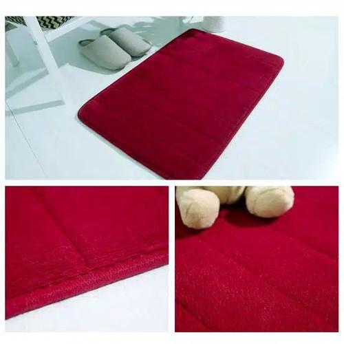 Foto Produk keset kaki bahan memory foam - Merah dari SUKSES JAYA CHAN'S