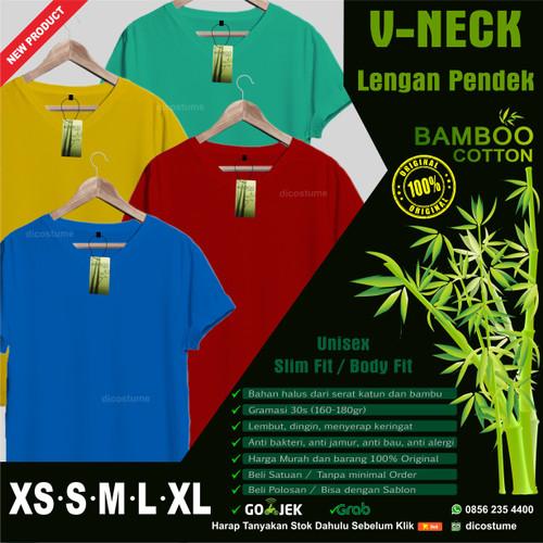 Foto Produk Kaos Polos Katun Bambu (Cotton Bamboo T-Shirt) V Neck dari Dicostume