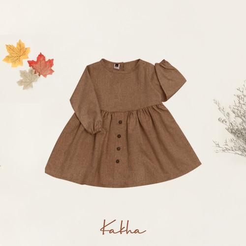 Foto Produk Dress Basic Kakha Series (0-4 Tahun) - Brownies, L dari kakhaofficial