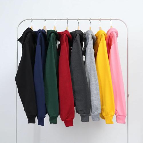 Foto Produk (PROMO) Jaket Polos Sweater Hoodie Zipper Polos Hitam Unisex dari Rumah Baselayer