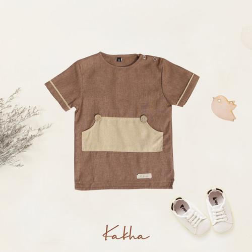 Foto Produk Pocket Shirt Kakha (Kemeja Koko Anak) - Brownies, L dari kakhaofficial