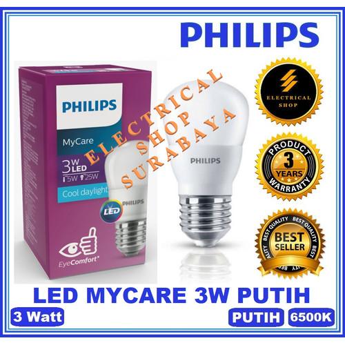Foto Produk PHILIPS LAMPU LED MYCARE 3W 4W 6W 8W 10W 12W PUTIH KUNING (GROSIR) ORI - LED Mycare 3W, Putih dari Electrical.Shop