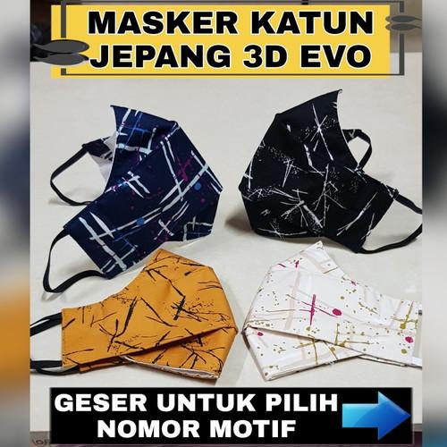 Foto Produk MASKER KAIN 3 PLY / 3 LAPIS NON MEDIS KATUN JEPANG HARGA GROSIR !! dari Rivelieno_Shop
