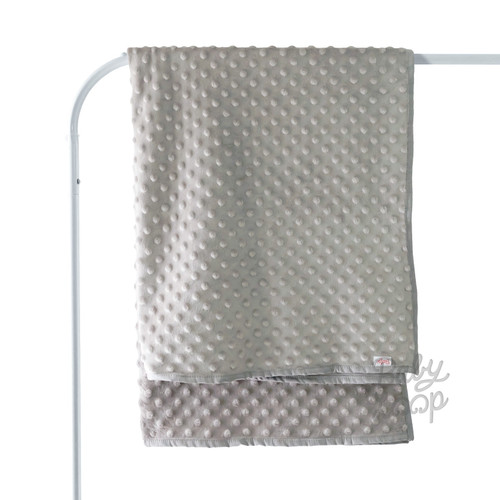 Foto Produk Dot Minky Blanket Thin Toddler - Baby Loop - BabyLoop - Abu-abu dari Baby Loop Official Store