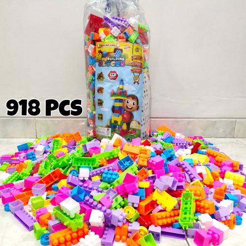 Foto Produk Mainan Lego Block Balok Susun isi 918 Ukuran Besar dari PARASINDOCELL