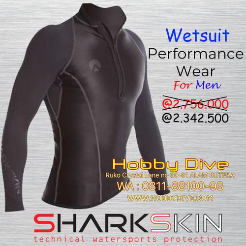 Foto Produk WETSUIT SHARKSKIN PERFORMANCE WEAR TOP MEN - Alat Diving Snorkeling - Hitam dari Hobby Dive