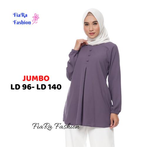 Foto Produk Tunik jumbo / Tunik terbaru / Atasan wanita / - Putih, S dari FiaRa Fashion