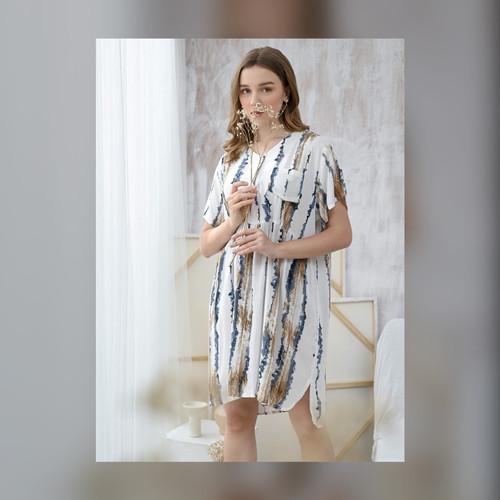 Foto Produk Julia Nightdress in Sand Beach - Piyama / Daster Rayon Premium by RAHA dari Raha Sleepwear