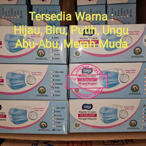 Foto Produk Masker Sensi Headloop (Hijab) 3ply Isi 40 pcs - Biru Muda dari Parfum Preloved Original