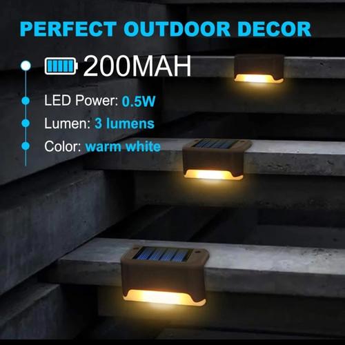 Foto Produk Lampu LED Solar Cell Tangga Pagar Taman Tenaga Surya Otomatis Nyala dari importmurahbagus