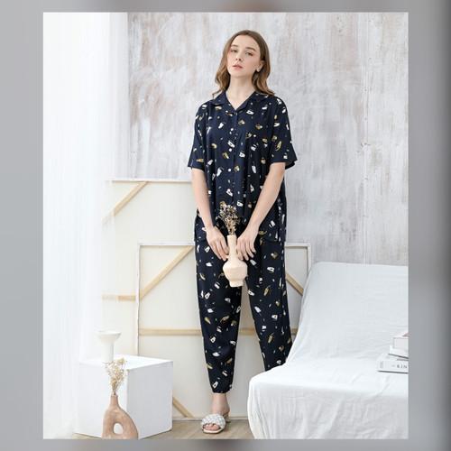 Foto Produk Alice Set in Tortoiseshell - Sleepwear / Piyama Baju Tidur Rayon RAHA dari Raha Sleepwear