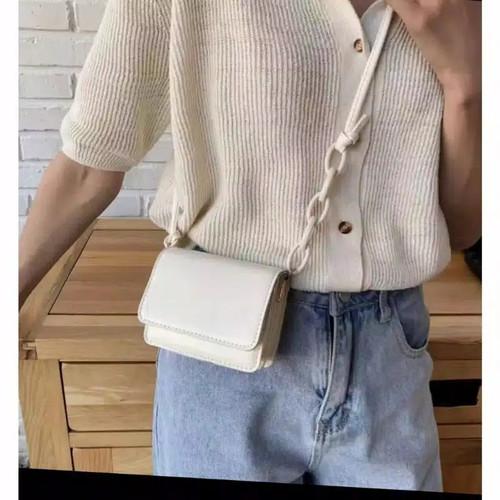 Foto Produk tas selempang wanita mini hanin - cream dari bosts_store
