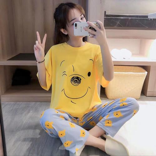 Foto Produk Pokkse- Piyama CP oversize import murah / CP oversize yellow pooh dari Pokkse